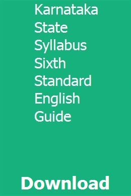 Karnataka State Syllabus Sixth Standard English Guide With Images Syllabus Guided Math Smart Class