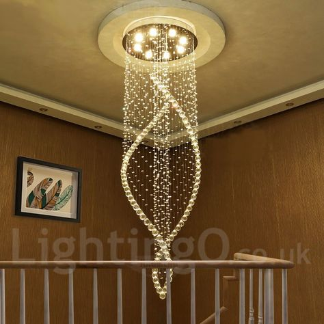 US $419.53 |Modern LED Crystal Chandeliers Lighting Fixture Ceiling Chandelier Pendant Lamps Chandelier Indoor Deco Hanging Lamp for Home|led crystal