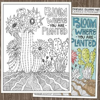 49+ Bloom where youre planted coloring page download HD