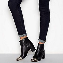 ef21ef4bf1c J by Jasper Conran - Black leather 'Joe' block heel ankle boots ...