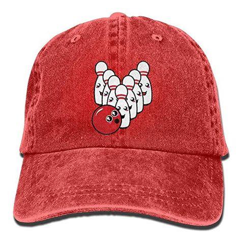 AMAZON  4.28 Funny Cap Cute Bowling Ball Denim Baseball Caps Unisex Dad Hats  Trucker Hat Black d38dd6f91260