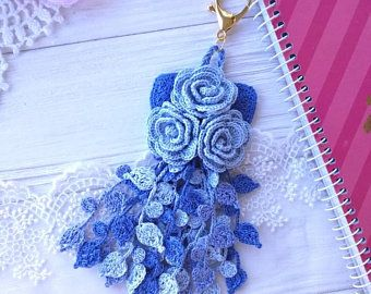 Crochet Tassel Blue Tassel Planner Charm Planner Tassel Bag Tassel In 2020 Pink Tassel Planner Tassel Crochet