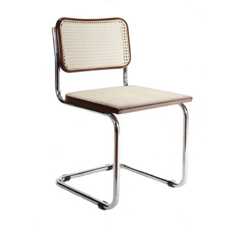Breuer Metal Chair With Cane Seat And Back Metal Chairs Metal Dining Chairs Dining Chairs