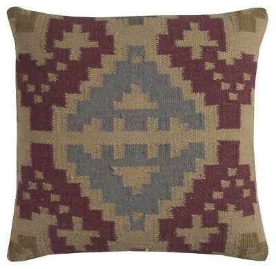 """Rizzy Home T11576 20"""" x 20"""" Throw Pillow with Hidden Zipper #fashion #home #garden #homedcor #pillows (ebay link)"""