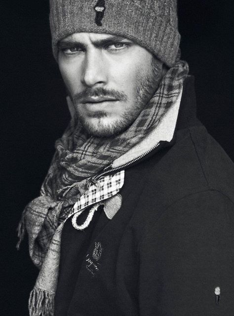 Don't know if its just his face that's appealing - but we like the beanie and scarf combo too! :)
