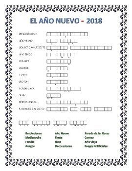 New Year Word Search And Double Puzzle Spanish Language Learning Software New Year Words Learn A New Language