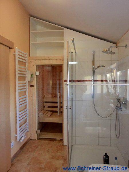 Mansardenschrank Auf Badezimmer Sauna Badezimmer Sauna Badezimmer Umgestalten