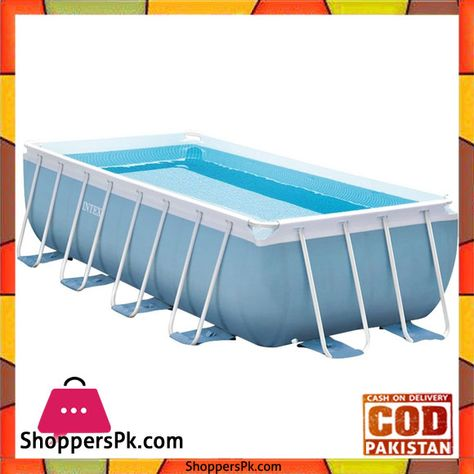 Buy Intex Prism Frame Pool With Filter Pump And Safety Ladder 4m X 2m X 1m 28316 At Best Price In Pakistan Rectangular Pool Rectangle Pool Intex