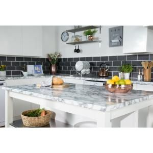 D C Fix 26 In X 78 In Marble White Self Adhesive Vinyl Film For
