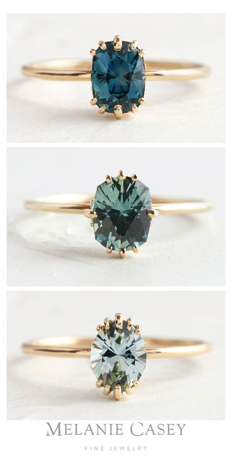 Nontraditional Engagement Rings, Colored Engagement Rings, Alternative Engagement Rings, Engagement Ring Settings, Vintage Engagement Rings, Engagement Rings Stone, Engagement Rings With Sapphires, Engagement Rings Not Diamond, Vintage Sapphire Engagement Rings