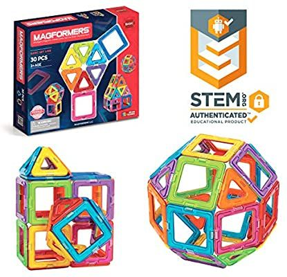 Melea Magformers Basic Set 30 Pieces Magnetic Building Blocks Educational Magnetic Tiles Magnetic Buildi In 2020 Magnetic Toys Magnetic Building Blocks Stem Toys