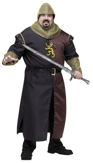 Mens Valiant Medieval Knight Plus Size Costume