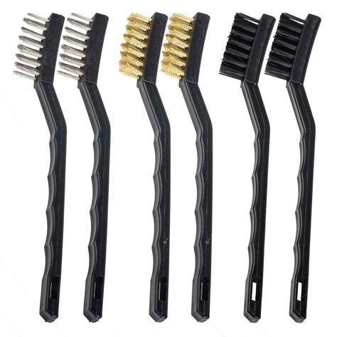Eagles Tm 6pcs Set 2stainless Steel 2brass 2nylon Wire Brush For Cleaning And Removing Loose Paint Scale And Rust Ad Steel Wire Brushes Steel Cleaning