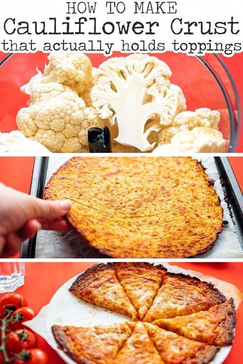Ever wonder how to make cauliflower pizza crust that won't fall apart? This cauliflower pizza crust recipe is sturdy enough to pile with toppings and perfect for eating low carb! #lowcarb #keto #vegetarian #glutenfree #healthyrecipe #easyrecipe #cauliflower #cauliflowerrecipe // Live Eat Learn #KetoRecipesForBreakfast