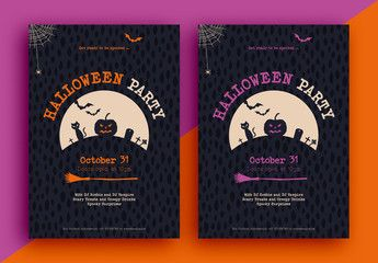 Halloween Event Flyer. Buy this stock template and explore similar templates at Adobe Stock