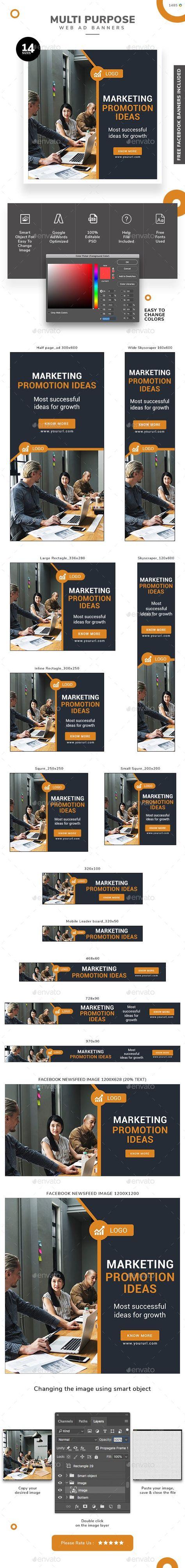Multi Purpose Web Banner Set