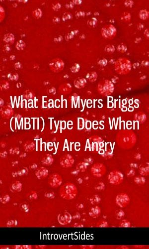 What Each Myers Briggs (MBTI) Type Does When They Are Angry