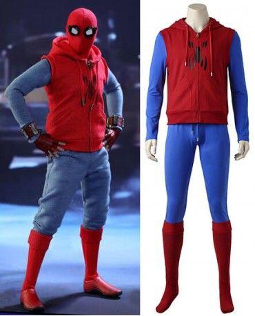 f17b98dc6 Spiderman Homecoming Peter Benjamin Parker Cosplay Costume   spider ...