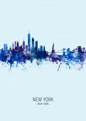 new york nyc skyline poster by michael