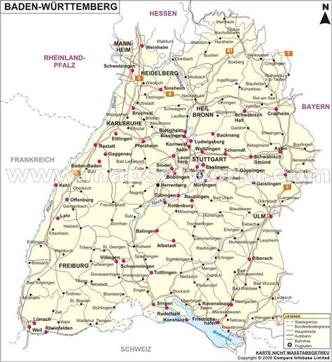 Landkarte Baden Wuttemberg Landkarte Wurttemberg Karten