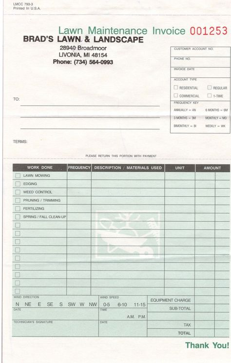 landscape invoice template invoicegenerator landscaping invoice - product invoice