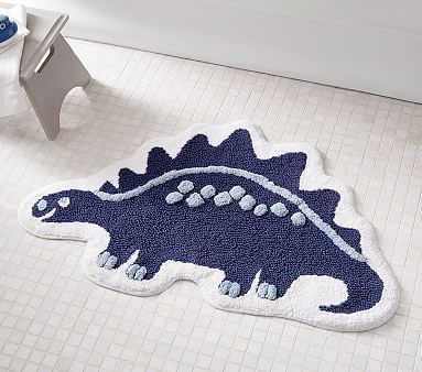 Shaped Like Their Favorite Dinosaur This Supersoft Pure Cotton Dino Bath Mat Is The Perfect Place To Step Out Of The Bath Kids Bath Mat Bathroom Kids Bath Mat