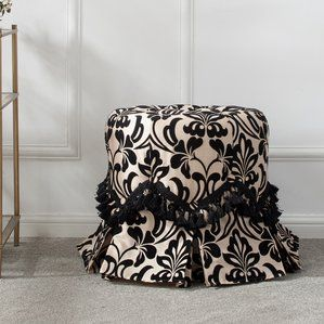 Nice Quality Hedgerley Round Vanity Stool Astoria Grand Vanity Stool Astoria Grand Upholstered Dining Chairs