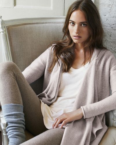 Poetry - Cashmere Leggings - Very luxe, these pure cashmere leggings are soft, cosy and warm, the ultimate lounge wear.  Slim fitting with a deep elasticated waistband in three, very slightly marled colours.  100% cashmere