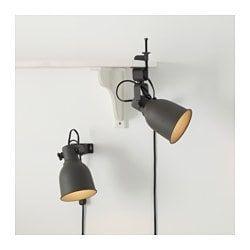 Image result for HEKTAR Wallclamp spotlight, white