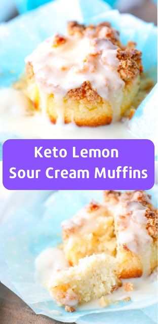Low Carb Lemon Sour Cream Muffins Ketorecipes Lowcarb Breakfast Muffin Recipes Keto Recipes Easy Keto Breakfast Muffins