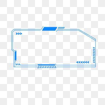 Tech Shading Irregular Lines Blue Border Scientific Shading Shading Irregular Shading Png And Vector With Transparent Background For Free Download Irregular Png Border