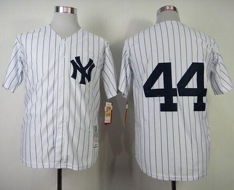 Mitchell And Ness 1977 Yankees  44 Reggie Jackson White Throwback Stitched  MLB Jersey 610eb8bb570