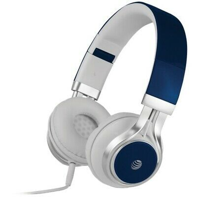 Ad Ebay Link At T Hpm10 Blu Stereo Over Ear Headphones With Microphone Blue Tai Nghe