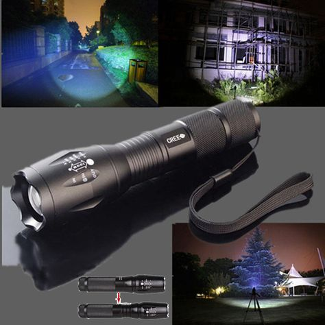 Tactical CREE TC1200 Led Flashlight XML2 Torch 18650 Waterproof 2000LM Style