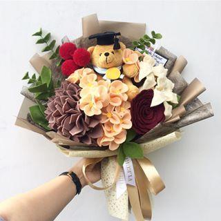 Artificial Sunflowers Posy Bouquet Home Craft Decor DIY ~1 Bunch 7 Heads ☆