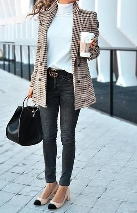 Fall Outfits For Work, Casual Work Outfits, Mode Outfits, Work Casual, Outfit Work, Winter Outfits For Ladies, Work Attire, Blazer Outfits For Women, Simple Outfits