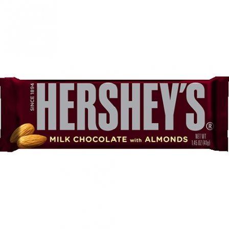 Hershey S Milk Chocolate With Almonds 1 45 Oz 41 1g Hershey