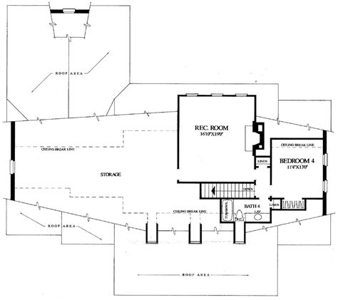 Traditional House Plan Second Floor - Chevy Chase Southern Home 128D-0052 | House Plans and More