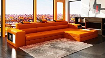 Vig Furniture 5022 Polaris Orange Bonded Leather Sectional Sofa Review Contemporary Leather Sectional Modern Sofa Sectional Contemporary Leather Sectional Sofa