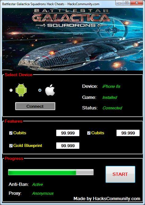Battlestar Galactica Squadrons Hack Cheats Tool 9999999 Cubits, Gold - new blueprint software ios