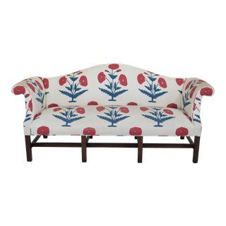 Wondrous Kittinger Chippendale Mahogany Floral Sofa For Sale Gmtry Best Dining Table And Chair Ideas Images Gmtryco