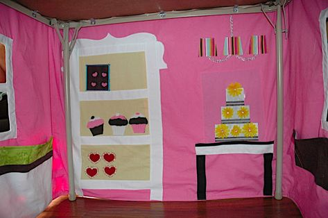 Making it Sweet   Card Table Playhouse