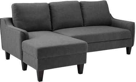 Jarreau 1150271 Sofa Chaise Sleeper With Tapered Legs Piped