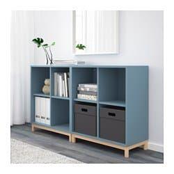 prezzo imbattibile design moderno vendita economica Combinazione di mobili con gambe EKET azzurro | ikea nel ...