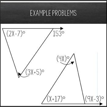 Exterior Angle Theorem Worksheet Solving Equations Maze Activity Solving Equations Exterior Angles Persuasive Writing Prompts