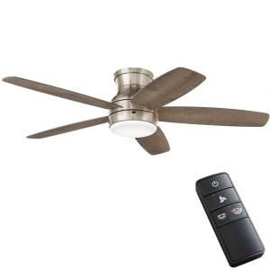 Home Decorators Collection Ashby Park 52 In White Color Changing Integrated Led Brushed Nickel Ceiling Fan With Light Kit And Remote Control 59252 The Home D In 2021 Brushed Nickel Ceiling
