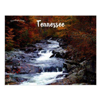 Cascading Rapids Landscape In Great Smoky Mountain Postcard Zazzle Com Smoky Mountain National Park Mountain Vacations National Parks