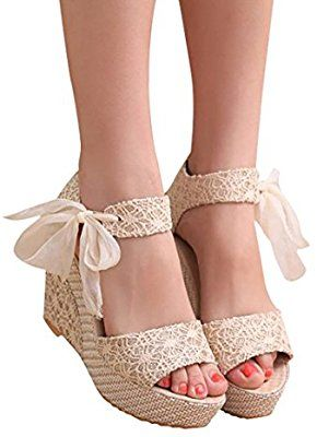 Amazon Com Hemlock Lady Slope Sandals Loafers Shoes High Wedge