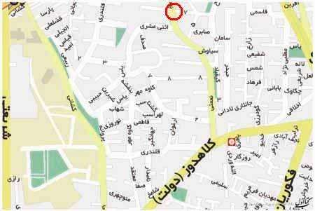 خیابان دولت خیابان شهید کلاهدوز نام پیشین خیابان دولت از خیابان های محله قلهک در شمال تهران است این خیابان که جهتی شرقی غربی دارد از خیابا Map Map Screenshot
