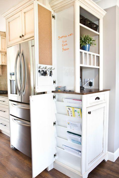 Sweet Hide All That Paperwork Kitchen Design August 2014 1